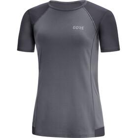 GORE WEAR R5 Hardloopshirt korte mouwen Dames grijs/zwart